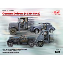 German Drivers (1939-1945 WWII) (4 figures) (100% new molds) 1/35