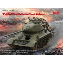 Soviet T-34/85 with Tank Riders  1/35