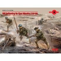 U.S. Infantry in Gas Masks (1918) (4 figures)  1/35