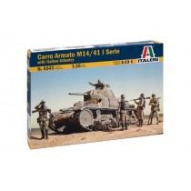 Carro Armato M14/41 I Serie wth Italian Infantry  1/35