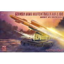 German WWII E-100 panzer weapon carrier with V1 Missile launcher  1/72
