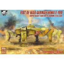 Fist of War German WWII E-100 Super Heavy Tank with 380mm stug gun 1/72