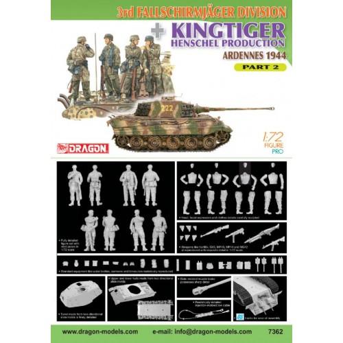3rd Fallschirmjager Division + Kingtiger Henschel Production (Ardennes 1944) Part 1