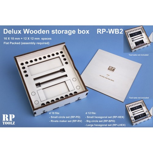 Delux Wooden storage box for 2 punch and die sets