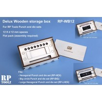 Delux Wooden storage box for punch and die set: RP-PD, RP-RV