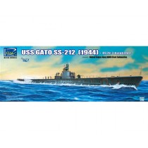 USS Gato SS-212 Fleet Submarine (1944) + OS2U-3 Kingfisher Floatplane 1/200