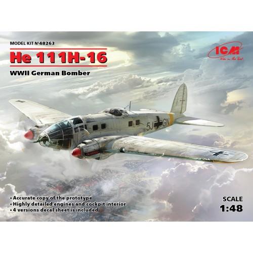 Heinkel He-111H-16 WWII German Bomber  1/48
