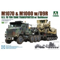 M1070 & M1000 with D9R US Army 70 Ton Tank Transporter & Bulldozer 1/72