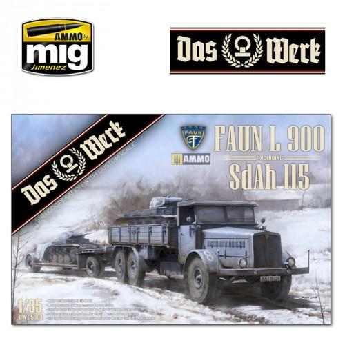 FAUN L 900 plus Sd.Ah.115 10t low bed trailer bundle 1/35