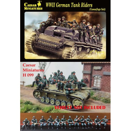 WWII German Tank Rider (Camouflage Suit)  1/72