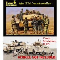 Modern US Tank Crews with Armored Force   1/72