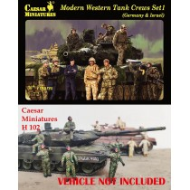 Modern Western Tank Crews Set 1 (Germany & Israel)  1/72