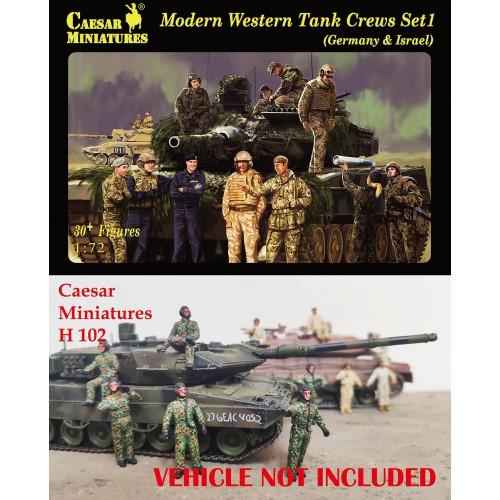 Modern Western Tank Crews Set 1 (Germany & Israel) 1/72