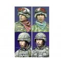 Modern US Infantry Heads 1/35