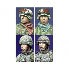 Modern US Infantry Heads 1/35