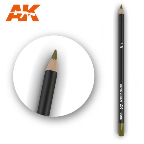 Watercolor Pencil Olive Green