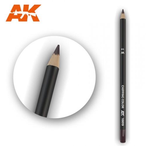 Watercolor Pencil Chipping Color
