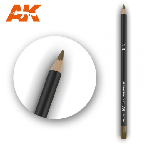 Watercolor Pencil Streaking Dirt
