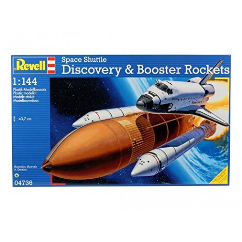 Space Shuttle Discovery and Booster Rockets