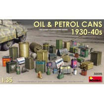 Oil and petrol cans from the 1930-40s.  1/35