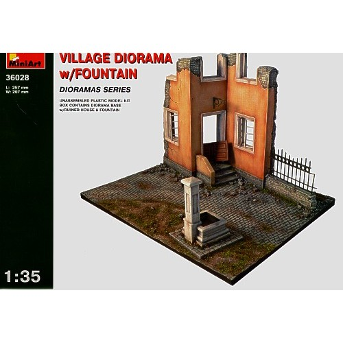 Village Diorama with Fountain 1/35