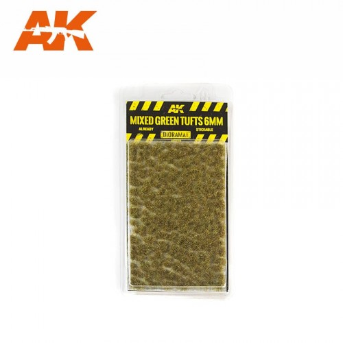 MIXED GREEN TUFTS 6mm