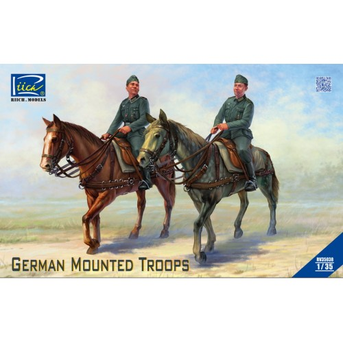 German Mounted Troops (2 Horses & 2 Figures) 1/35