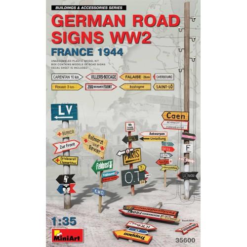 GERMAN ROAD SIGNS WW2 (FRANCE 1944) 1/35
