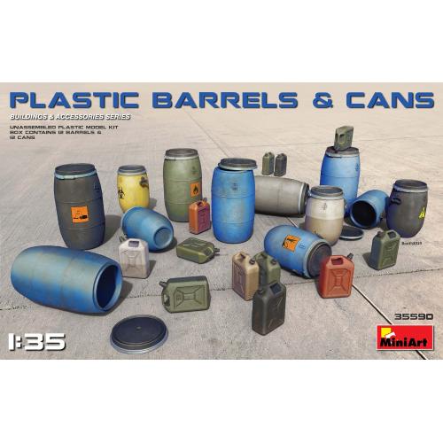 PLASTIC BARRELS & CANS 1/35