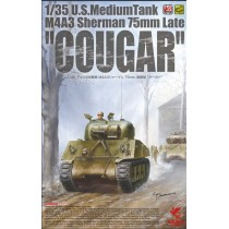 "U.S. M4A3 Sherman 75mm Late ""Cougar""  1/35"