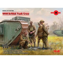 WWI British Tank Crew (4 figures) (100% new molds) 1/35