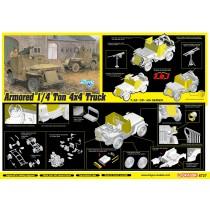 Armored 1/4-Ton 4x4 T(JEEP) Truck w/.50-cal Machine Gun (3 in 1) 1/35