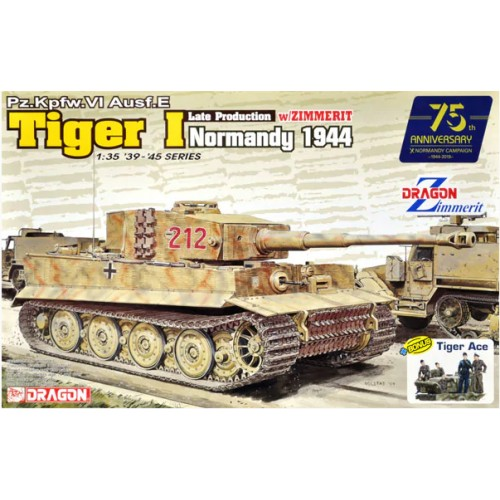 Pz.Kpfw.VI Ausf.E Tiger I Late Production w/Zimmerit (Normandy 1944) 1/35