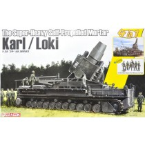 The Super-Heavy Self-Propelled Mortar Karl / Loki w/German Artillery Crew 1/35
