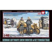 German Luftwaffe Crew (Winter) with Kettenkraftrad 1/48