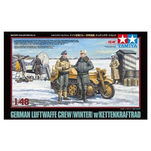 German Luftwaffe Crew (Winter) with Kettenkraftrad