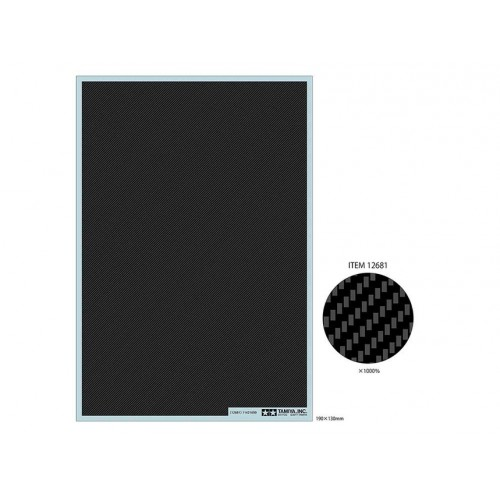 Carbon Pattern Decal Set Plain Weave/Extra Fine