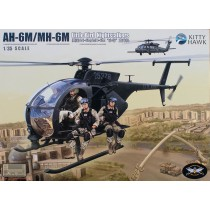 Hughes AH-6M/MH-6M con 6 figuras de resina 1/35