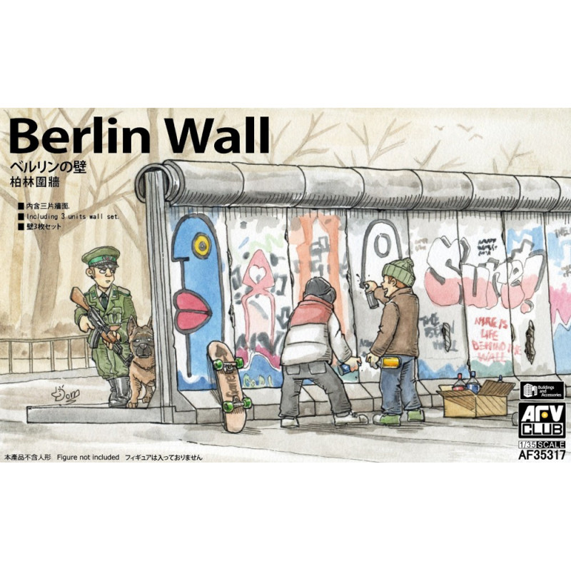 Berlin Wall (3 sections) 1/35