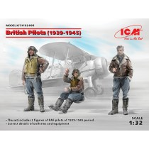 British Pilots (1939-1945) (3 figures) (100% new molds)   1/32