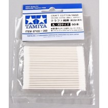 Craft Cotton Swab Round/Extra Small 50Pcs (Bastoncillos reforzados)