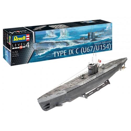 German Submarine Type IXC (Early Turret)  1/72