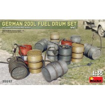 German 200L Fuel Drum Set WWII 1/35