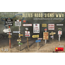 ALLIES ROAD SIGNS WWII. EUROPEAN THEATER OF OPERATIONS 1/35