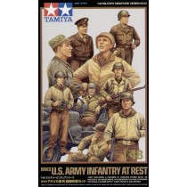WWII U.S. Infantry at rest with Jeep 1/48
