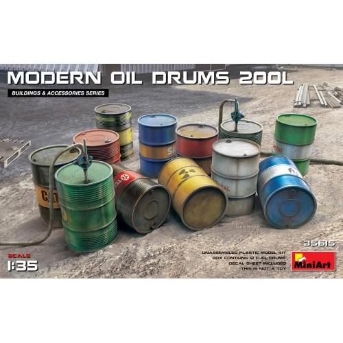FUEL & OIL DRUMS Modern 1/35