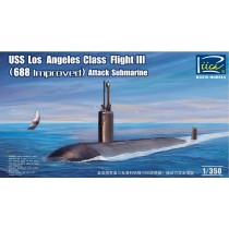 USS Los Angeles Class Flight III (688 Improved) Attack submarine 1/350