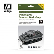 Set 6 colores Model Air da 8 ml - German Dark Grey (AFV Dunkelgrau)
