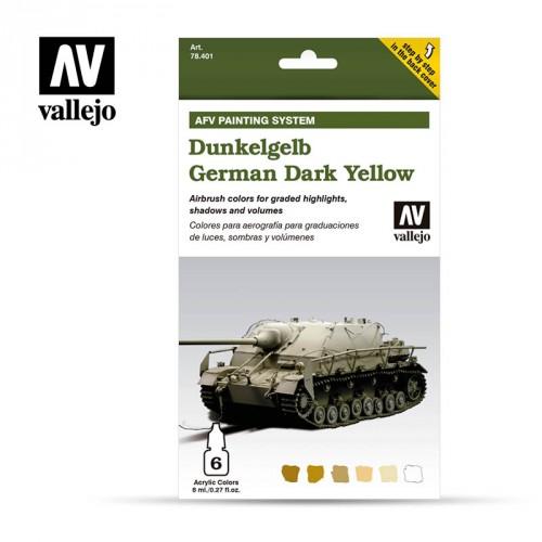 Set 6 colori Model Air da 8 ml - German Yellow (AFV Dunkelgelb)