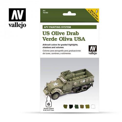 Set 6 colores Model Air da 8 ml - US Army Olive Drab